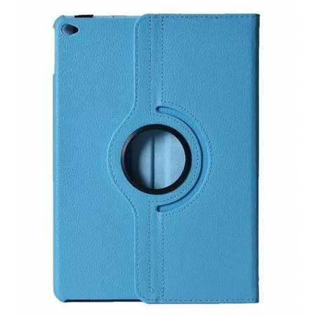 360°Rotatable Litchi Pattern Leather Stand Case For iPad Air 2 - Light blue