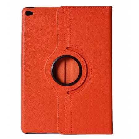 360°Rotatable Litchi Pattern Leather Stand Case For iPad Air 2 - Orange
