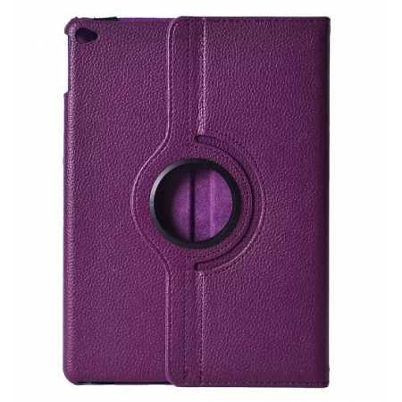 360°Rotatable Litchi Pattern Leather Stand Case For iPad Air 2 - Purple