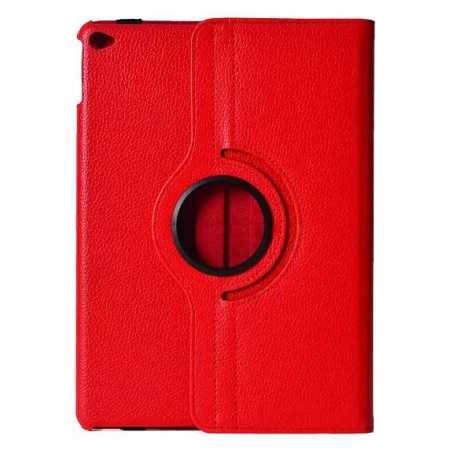 360°Rotatable Litchi Pattern Leather Stand Case For iPad Air 2 - Red
