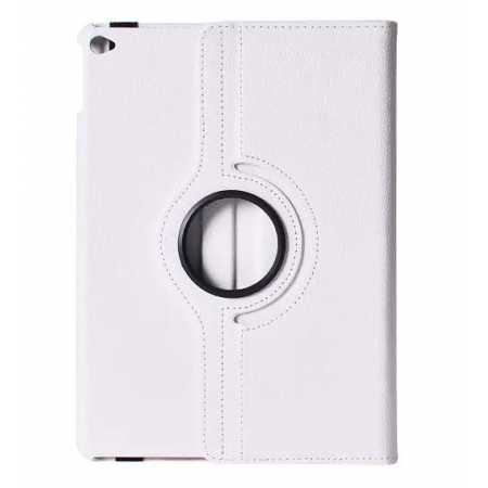360°Rotatable Litchi Pattern Leather Stand Case For iPad Air 2 - White