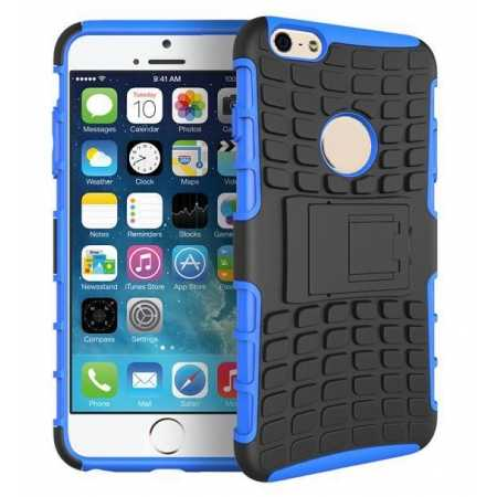Heavy Duty Strong Hard TPU Case Cover Stand For iPhone 6 Plus/6S Plus 5.5inch - Blue