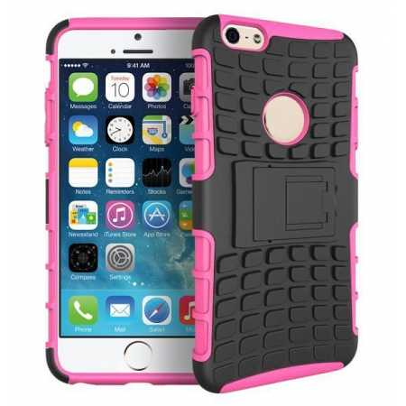 Heavy Duty Strong Hard TPU Case Cover Stand For iPhone 6 Plus/6S Plus 5.5inch - Hot Pink