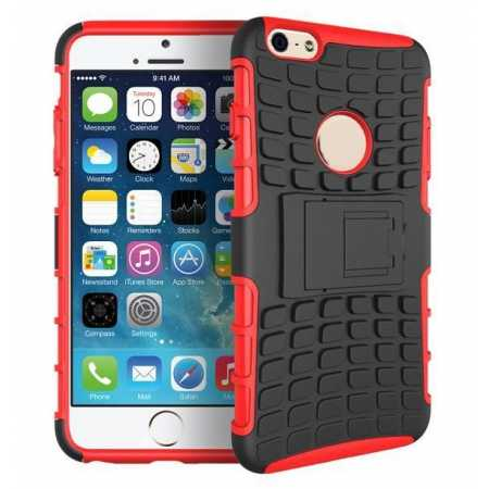Heavy Duty Strong Hard TPU Case Cover Stand For iPhone 6 Plus/6S Plus 5.5inch - Red