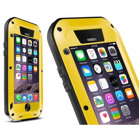 Waterproof Aluminum Gorilla Metal Case For iPhone 6 Plus/6S Plus 5.5inch - Yellow