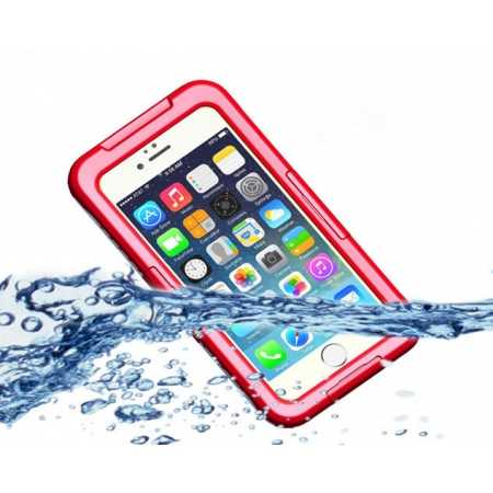 Waterproof Shockproof Dirt Proof Durable Case Cover for iPhone 6/6S 4.7inch - Red