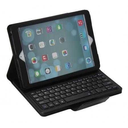 Detachable Bluetooth Wireless Keyboard Leather Case With stand for iPad air 2 - Black