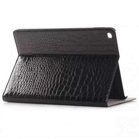 High quality Crocodile Skin Leather Stand Case for iPad Air 2 - Black