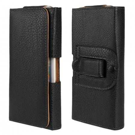 Lichee Leather Waist Clip Belt Case For iPhone 6/6S 4.7inch - Black