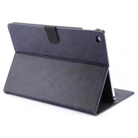 Luxury Vintage Series Leather Stand Case for iPad Air 2 with Sleep/Wake-up Function - Dark blue
