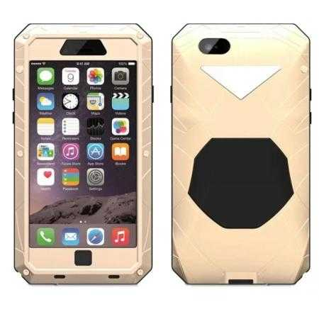 Luxury Waterproof Shockproof Aluminum Gorilla Glass Metal Cover Case for iPhone 6 Plus/6S Plus 5.5inch - Champagne