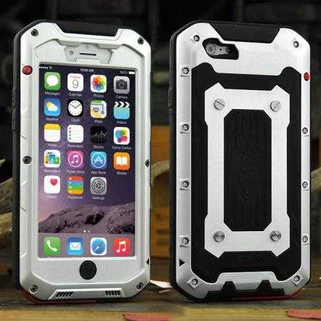 Waterproof Shockproof Aluminum Gorilla Glass Metal Case for iPhone 6/6S 4.7inch - Silver