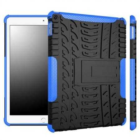 Durable ShockProof Hybrid Hard Stand TPU Case Cover For iPad Air 2 - Blue