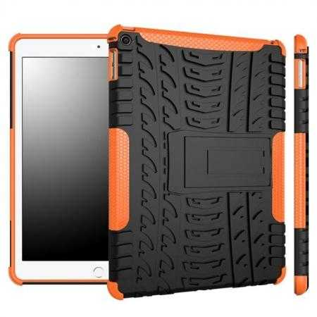 Durable ShockProof Hybrid Hard Stand TPU Case Cover For iPad Air 2 - Orange