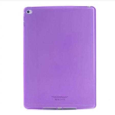 High Quality Matte Frosted Soft Tpu Gel Case Back Cover for iPad Air 2 - Purple