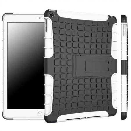 Shockproof TPU Hybrid Hard Kickstand Case Cover For iPad Air 2 - White
