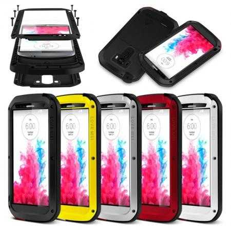 Waterproof Shockproof Aluminum Gorilla Metal Case Cover For LG G3