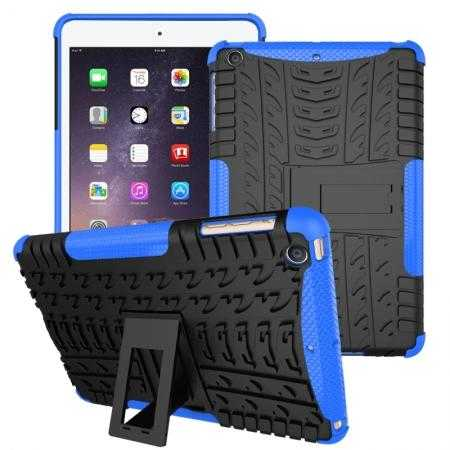 Durable ShockProof Hybrid Hard Stand TPU Case Cover For iPad mini 3/iPad mini 2 - Blue