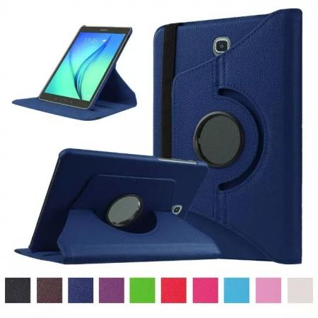 360 Degrees Rotating Stand Leather Case For Samsung Galaxy Tab S2 8.0 T715 - Dark blue