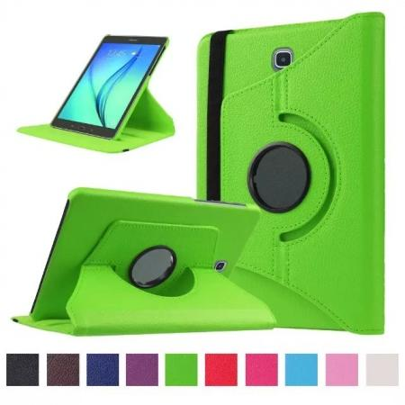 360 Degrees Rotating Stand Leather Case For Samsung Galaxy Tab S2 8.0 T715 - Green