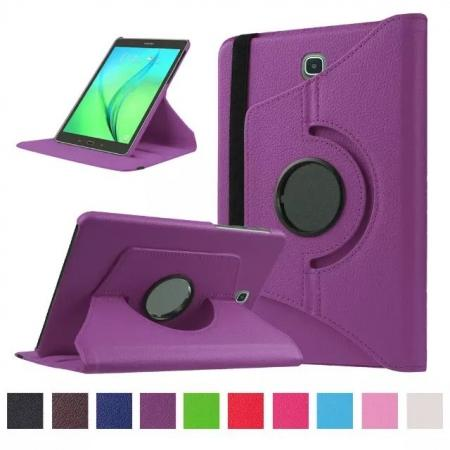 360 Degrees Rotating Stand Leather Case For Samsung Galaxy Tab S2 8.0 T715 - Purple