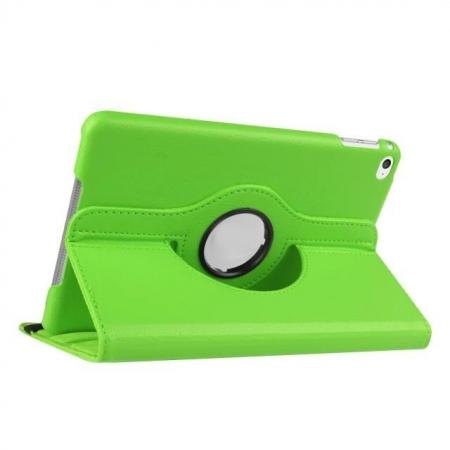 360 Degrees Rotating Smart Stand Leather Case For iPad mini 4 - Green