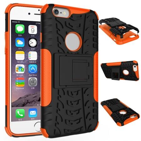 Hyun Pattern Dual Layer Hybrid Shockproof Case Cover for iPhone 6s - Orange