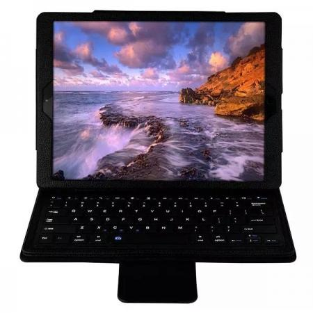 Detachable Wireless Bluetooth Keyboard Stand Leather Case For iPad Pro 12.9 Inch - Black