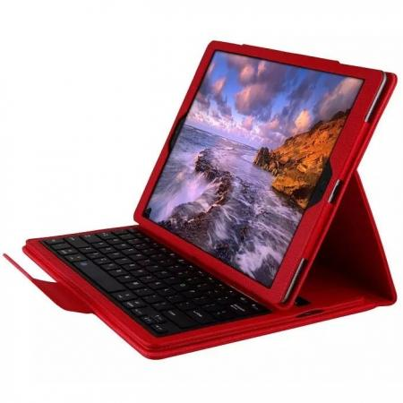 Detachable Wireless Bluetooth Keyboard Stand Leather Case For iPad Pro 12.9 Inch - Red