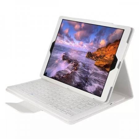 Detachable Wireless Bluetooth Keyboard Stand Leather Case For iPad Pro 12.9 Inch - White
