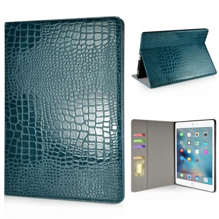 Alligator Pattern Flip Stand Leather Case For iPad Pro 12.9 inch With Card Slots - Blue
