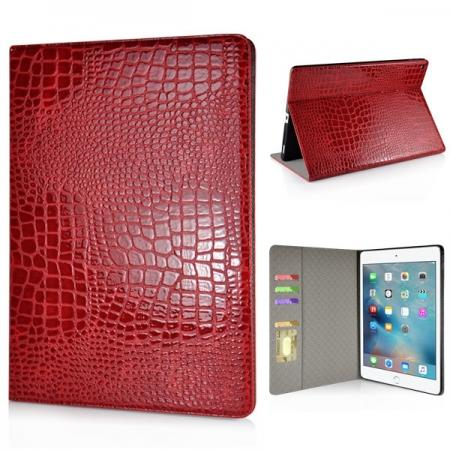 Alligator Pattern Flip Stand Leather Case For iPad Pro 12.9 inch With Card Slots - Red
