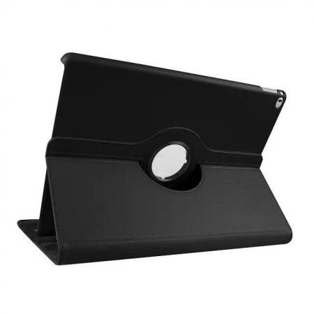 Litchi Grain 360 Rotate Flip Stand PU Leather Tablet Cover Case For iPad Pro 12.9 Inch - Black