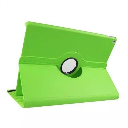 Litchi Grain 360 Rotate Flip Stand PU Leather Tablet Cover Case For iPad Pro 12.9 Inch - Green