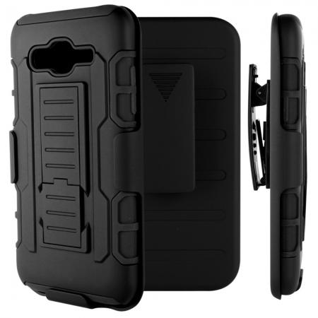 Future Armor Premium Belt Clip Holster Kickstand Hybrid Protective Case for Samsung Galaxy J5