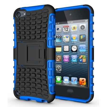 Shockproof Dual Layer Hybrid Armor Kickstand Case For Apple iPod Touch 5th Gen - Blue
