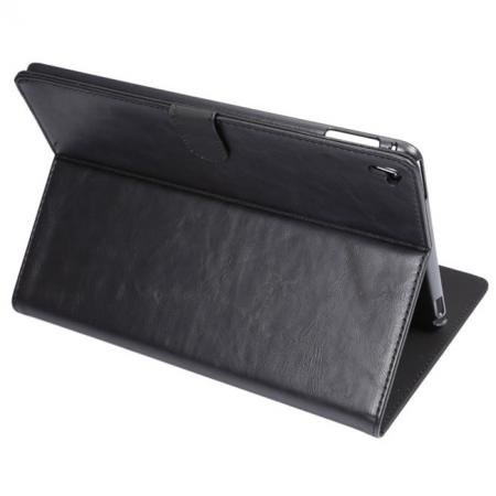 Crazy Horse Grain Leather Stand Flip Case for 9.7-inch iPad Pro with Card Holder - Black
