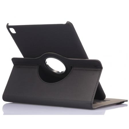 360 Degree Rotating Folio Jeans Cloth Skin PU Leather Case for 9.7-inch iPad Pro - Black