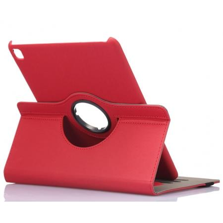 360 Degree Rotating Folio Jeans Cloth Skin PU Leather Case for 9.7-inch iPad Pro - Red