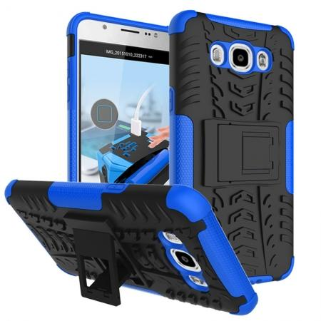 Hybrid Dual Layer Armor Defender Case with Stand For Samsung Galaxy J7 (2016) J710 - Blue
