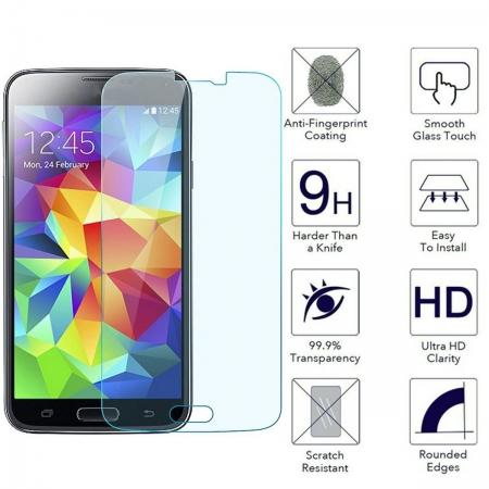 Anti-Scratch HD Clear Tempered Glass Screen Protector for Samsung Galaxy S5