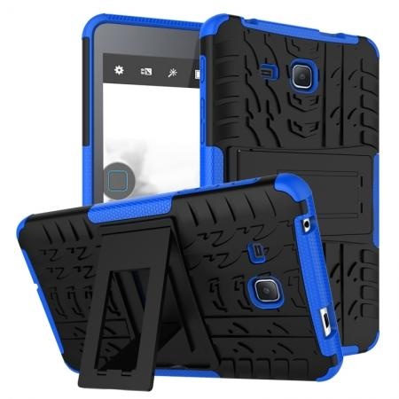 Hybrid Dual Layer Tough Kickstand Protective Case for Samsung Galaxy Tab A (2016) T280 - Blue