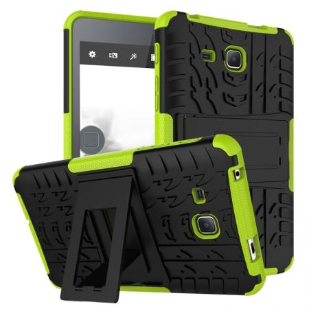 Hybrid Dual Layer Tough Kickstand Protective Case for Samsung Galaxy Tab A (2016) T280 - Green