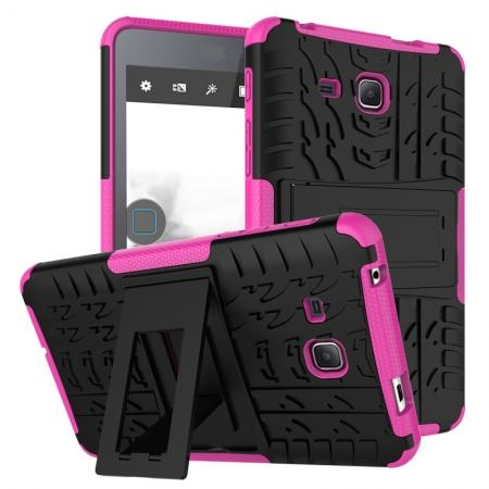 Hybrid Dual Layer Tough Kickstand Protective Case for Samsung Galaxy Tab A (2016) T280 - Hot pink