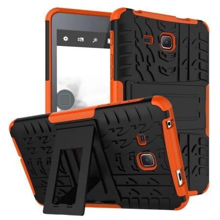 Hybrid Dual Layer Tough Kickstand Protective Case for Samsung Galaxy Tab A (2016) T280 - Orange