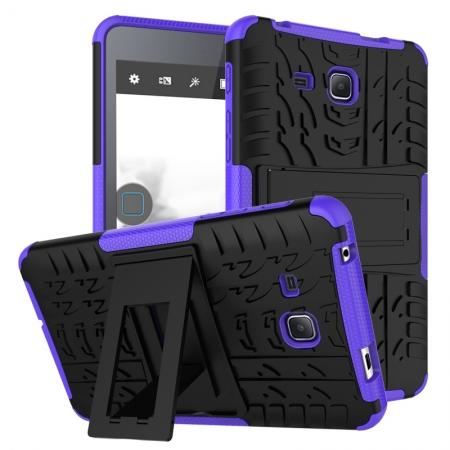 Hybrid Dual Layer Tough Kickstand Protective Case for Samsung Galaxy Tab A (2016) T280 - Purple