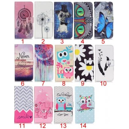 Patterned Magnetic PU Leather Card Wallet Flip Slot Stand Case For Samsung Galaxy S7