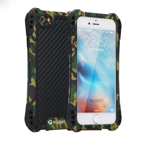 R-JUST Shockproof Aluminum metal Case For iPhone 6/6S 4.7 inch - Camouflage