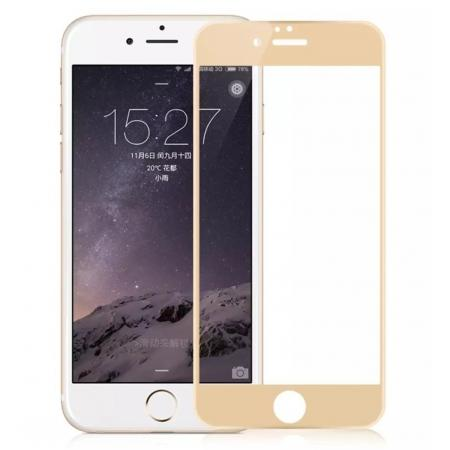 3D Full Coverage Tempered Glass Screen Protector For iPhone 6 / 6S 4.7inch - Gold