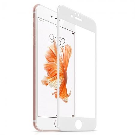 3D Full Coverage Tempered Glass Screen Protector For iPhone 6 / 6S 4.7inch - White